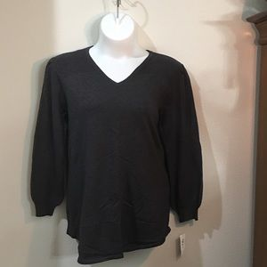 Black Knit Scoop Neck Tunic